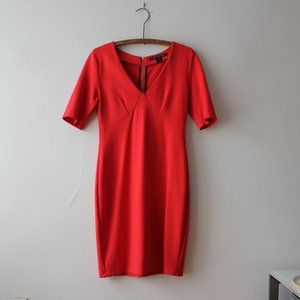 French Connection Red Short Sleeves Dress